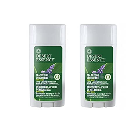 Desert Essence Tea Tree Oil Deodorant With Lavender For Long-Lasting Protection, 2.5 fl oz (Pack of 2)