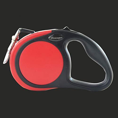 YSDTLX(guinzaglio) Automatico Telescopico Cane Artefatto Medio Cane Grande Cane Cane Cane Corda Piccolo Cane Forniture, Rosso + Colletto in Nylon, 5M e6f16f