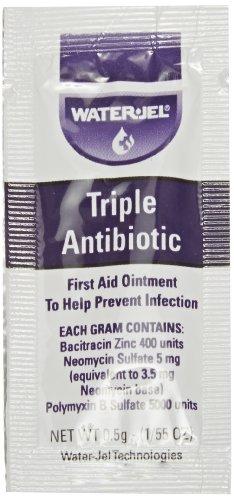 Waterjel 2120 Bacitracin Zinc Triple Antibiotic Ointment, 0.5gm Packet (Pack of 144)