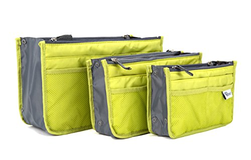 Price comparison product image Periea Handbag Organizer - Chelsy - Assorted Colors - 3 Piece Set - Includes Small,  Medium And Large Bag Organizer (Apple Green)