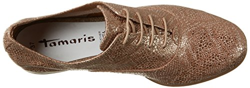 Tamaris 23205, Zapatos de Cordones Oxford para Mujer Marrón (ANTELOPE STRUC 399)
