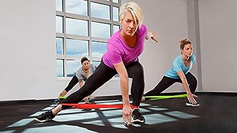 ... elástica Fitness Resistance Bands aparejos para el entrenamiento para Crossfit gimnasia Danza Recupero Movilidad Allena Piernas Glúteos: Amazon.es: ...