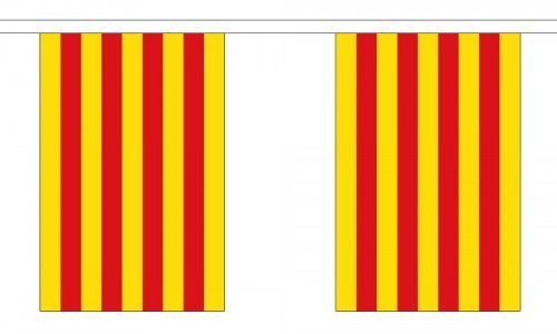 9 Metres 30 (9'''' x 6'''') Flag Catalonia Spain Spanish 100% Polyester Material Bunting Ideal Party Decoration For Street House Pubs Clubs Schools by Flag Co