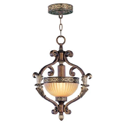 Amazon.com: livex iluminación 8530 Sevilla 1 luz colgante ...