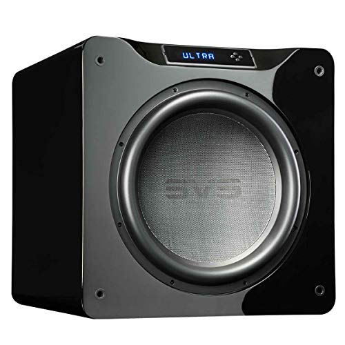 SVS SB16-Ultra Subwoofer (Piano Gloss Black) - 16-inch Driver, 1,500-Watts RMS, DSP App Control, Sealed Cabinet