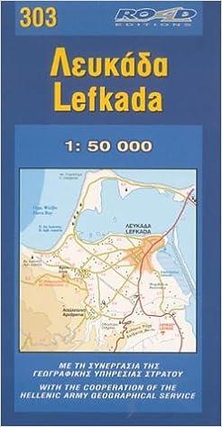 Map Of Lefkada Maps Amazon Co Uk 9789608481824 Books