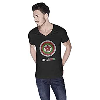 Creo Capital Oman Super Hero T-Shirt For Men - L, Black