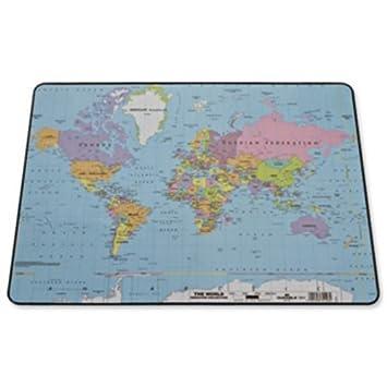 Durable world map desk mat pvc non slip base w600xd400mm ref 721119 durable world map desk mat pvc non slip base w600xd400mm ref 721119 gumiabroncs Choice Image