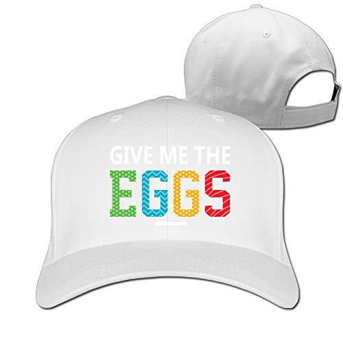 WRTAS Happy Easter Give Me The Egg colorful Easter Basket Baseball Hats Dad Flat Flat Cap