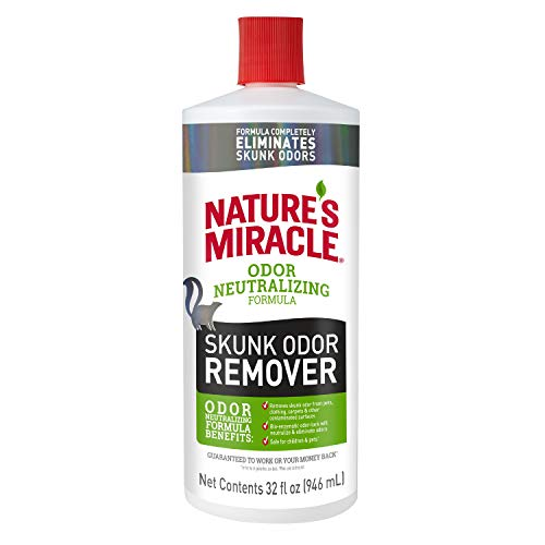 Nature's Miracle  Skunk Odor Remover Odor Neutralizing Formula, 32 fl oz (The Best Skunk Odor Removal)