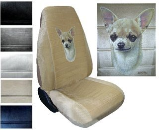Seat Cover Connection Chihuahua Short Hair Print 2 High Back Bucket Car Truck SUV Covers