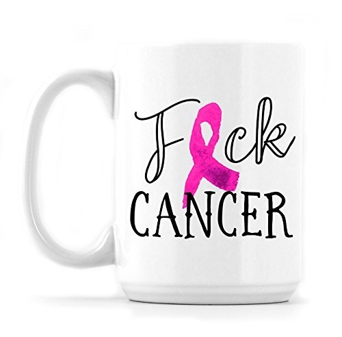 Breast Cancer Mug - Coffee Mug - Fuck Mug - Cancer Mug - Pink Ribbon - Cancer Awareness - Sassy Mug - Ceramic Cup - Funny Mug For Her -