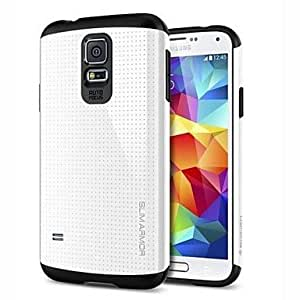 LZX Slim Armor PC with TPU Combo Shell Back Cover for Samsung Galaxy S5 I9600(Assorted Colors) , Golden