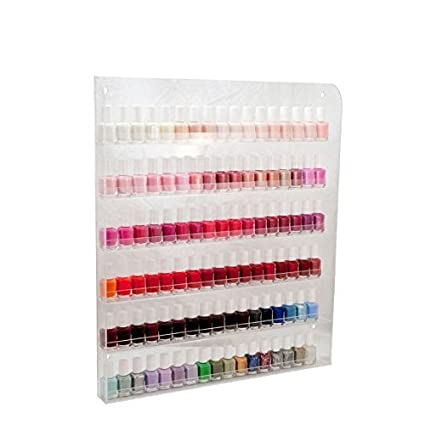 Miraculous Home It Nail Polish Wall Rack Organizer Holds Up To 102 Bottles Interior Design Ideas Tzicisoteloinfo