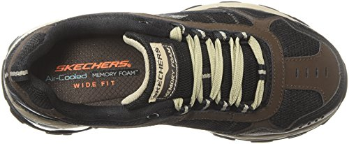 Skechers FIT Walking Brown Men's M Shoes Black AIR Hgq4Awx