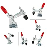 Up Bra - 1pcs Metal Vertical Horizontal Toggle Clamp Push Pull Quick Release Anti Slip Holding Hand 60 110 - Adhesive Toggle Wood Vertical Push Hand Anti Pull Rubber Grip Duty Auto Tool Cro