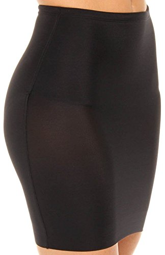 Assets by Sara Blakely Women's Featherweight Firmers 1/2 Slip Black Body Shaper XL