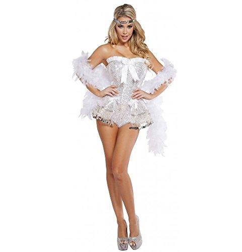 Sexy Flirty Flapper Costumes - Roma Costume Women's 2 Piece Flirty