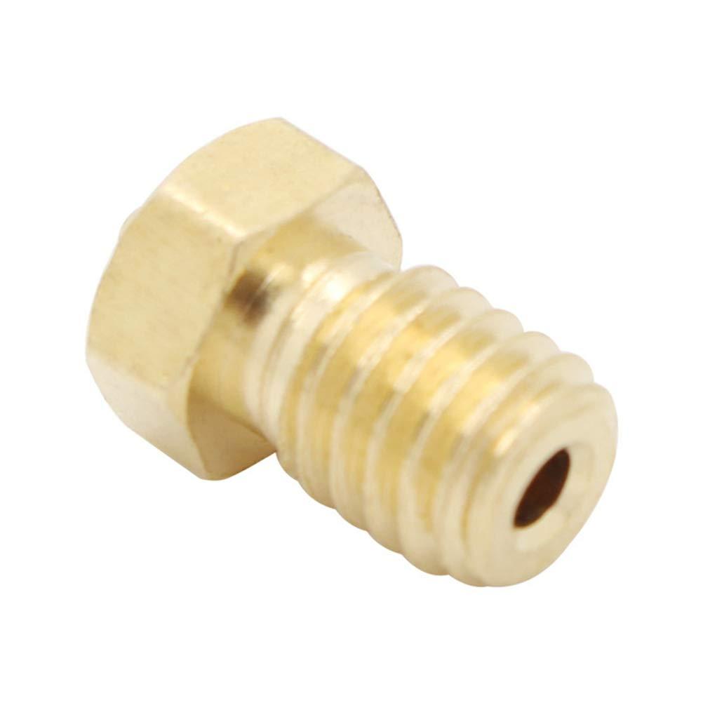 Mipcase 10PCS Durable 0.4MM 3D Printer Parts Extruder Nozzle Brass Nozzle Tip Printer Head for MK8 Makerbot 3D Printer 3D Printer Accessories