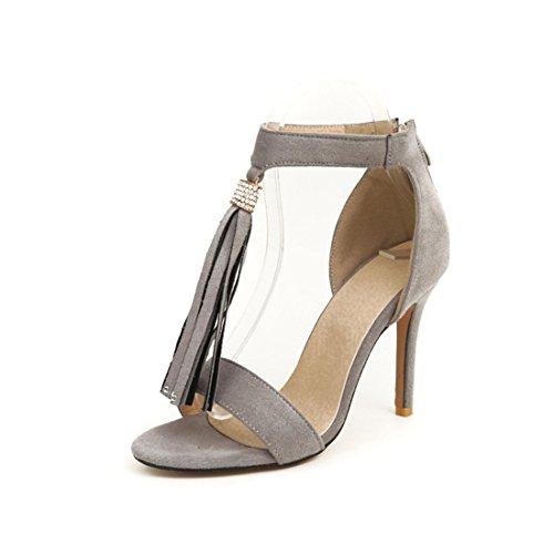 e donne sandali alti d'donne gray sono 33 sandali le sandali sexy dei tacchi Oqfw188