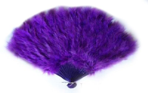 [SACASUSA (TM) Large Royal Purple Feather Hand Fan for Halloween, Party and costume] (Dance Fans Costumes Accessories)