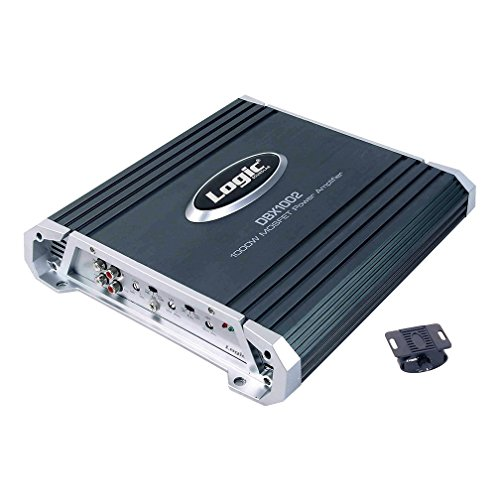 Logic Soundlab DBX1002 - 1000 Watt 2 Channel MOSFET Power Amplifier with Remote Subwoofer Level Control