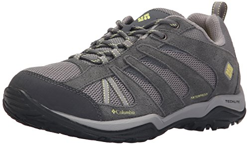 Columbia Women's Dakota Drifter Waterproof Hiking Shoe, Light Grey, Sunnyside, 7.5 B US