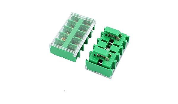 Amazon.com: eDealMax 2pcs JF5-2.5/5 AC660V 25A Plug-in Terminal PCB Bloque conector Verde: Electronics