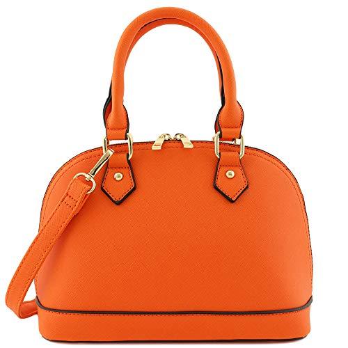 Zip-Around Classic Dome Satchel (Orange)
