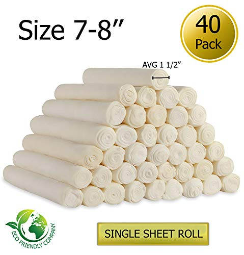 Rawhide Retriever Roll - Golden Chews Retriever roll 7-8 Extra Thick by Great Value Treat (40 Pack)