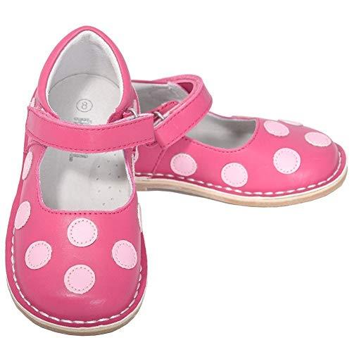 - L'Amour Fuchsia Pink Dot Mary Jane Dress Shoe Baby Girl 4