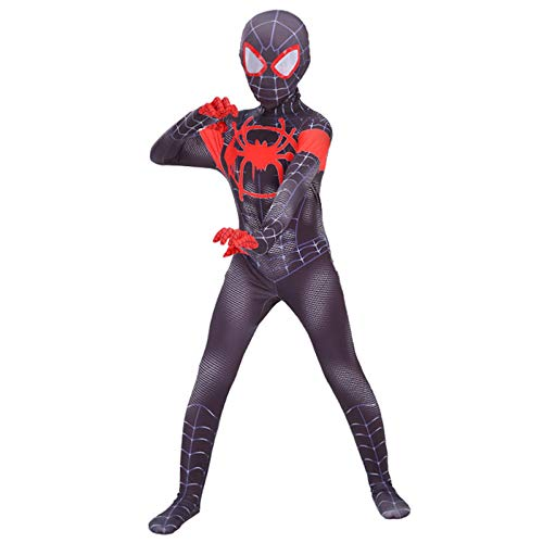 (QXMEI Spiderman Costume Siamese Tights Halloween Children Anime)