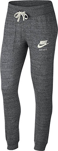 Nike Womens Gym Vintage Pants Carbon Heather/Sail 883731-091 Size X-small