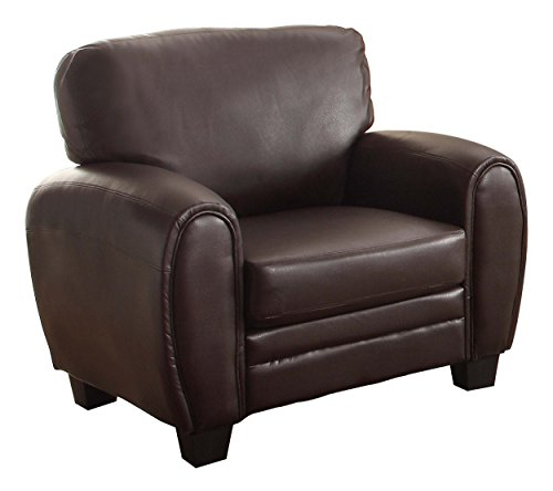 (Homelegance 9734DB-1 Upholstered Chair Bonded Leather Match, Dark)