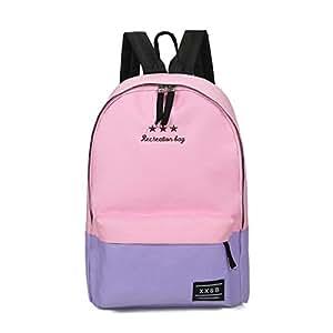 La Sra Hombro Bolsa De Viaje De Ocio Bolsa De Bolsas De Lona De Los Estudiantes De Secundaria,Pink