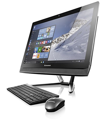 Lenovo C50 F0B100G1US 23-Inch All-in-One Desktop Computer (Intel Core i5-5200U, 8 GB RAM, 2 TB HDD, Windows 10 Home), Black