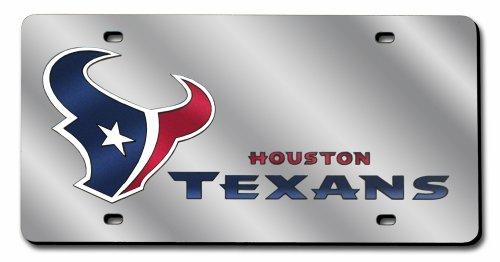 NFL Houston Texans Laser Cut Auto Tag, Silver