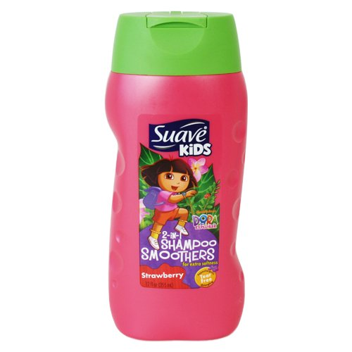 Kids 2 in 1 Shampoo Smoothers Strawberry by Suave for Kids - 12 (Hair Smoothers 2in 1 Shampoo)