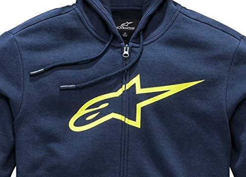 Ii jaune Bleu Coupe Homme Zippé Ageless Imprimé Fleece Pull Alpinestars Logo Avec Moderne Pqw57XnUx