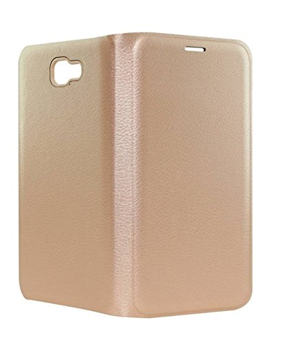 RDCASE Flip Cover for Samsung Galaxy On Nxt   Golden