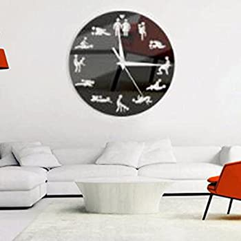 aa277a216 BigFamily Sexual Fun Sex Posture Wall Clock Fashion Couple Home Decor Watch  Gift