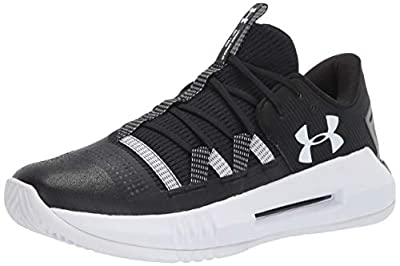 Under Armour Women's UA Block City 2.0 Volleyball Shoe, Black (001)/White, 12.5 M US by Under Armour