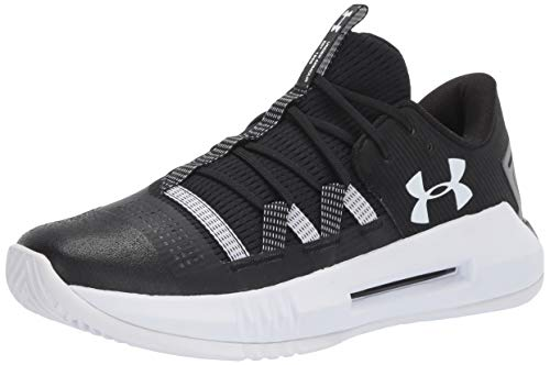 Under Armour Women's UA Block City 2.0 Volleyball Shoe, Black (001)/White, 12.5 M US