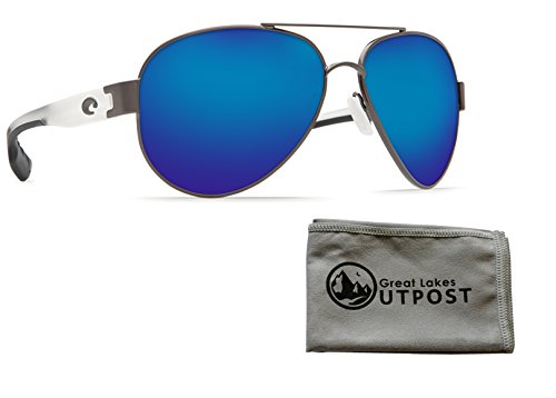 Costa del Mar South Point Blue Mirror 580P Gunmetal w/Crystal Temples Sunglasses w/ - South Costa Mar Point Del