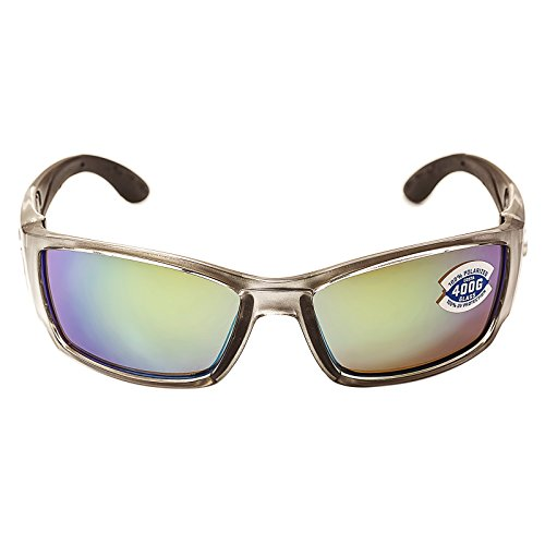Costa Del Mar CB18GMGLP Men's Corbina Polarized 580G Green Mirror Lens Silver Frame - Costa Mar Del Pads Nose