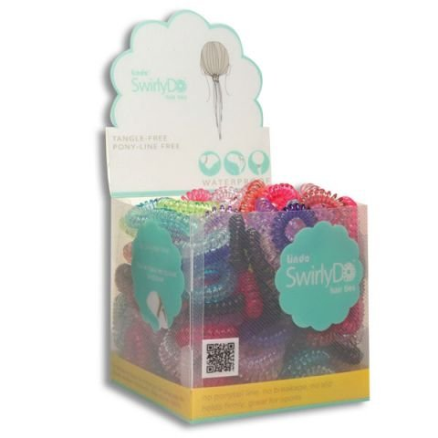 QUANTITY 72 SwirlyDo No Pony Line No Slip - Large Hair Ties ASSORTED colors by SwirlyDo