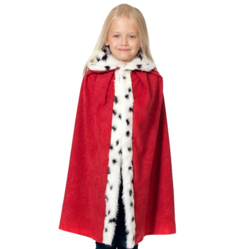 Fur Lined Red King or Queen Cloak for Kids