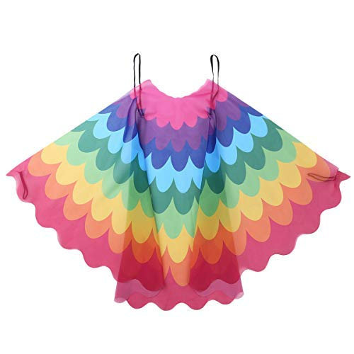 iEFiEL Kids Fairy Bird Costume Wings for Girls Boys Dress Up Bird Mask Wings Cape Pretend Play Party Masquerade Accessory Type D One Size