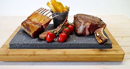 Black Rock Grill Steak Stone Sharing Set, Hot Cooking Stone Steak Rock Sharing Hibachi Table Top Grill Sizzling Plate Sharing Stone Steak Plate