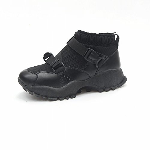 Ladies' Sports Casual Shoes Loose Hosiery Sole Shoes All Match Shorts Student Running Shoes , black , EUR37